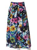 【春の新作】【INED】トロピカルロングフレアスカート