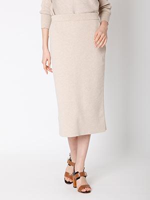 【予約販売】 ミモレ丈タイトニットスカート