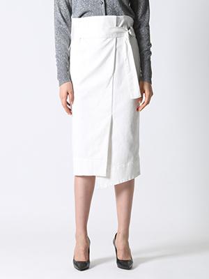 【先行予約】ラップ風ハイウエストスカート