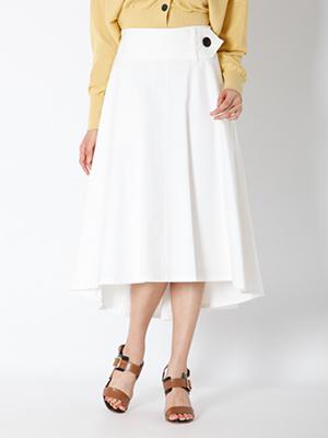 サッシュベルト風フレアスカート