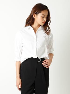 【春の新作】ベーシックストレッチシャツ《Prime flex》【Oggi/CLUEL4月号掲載】