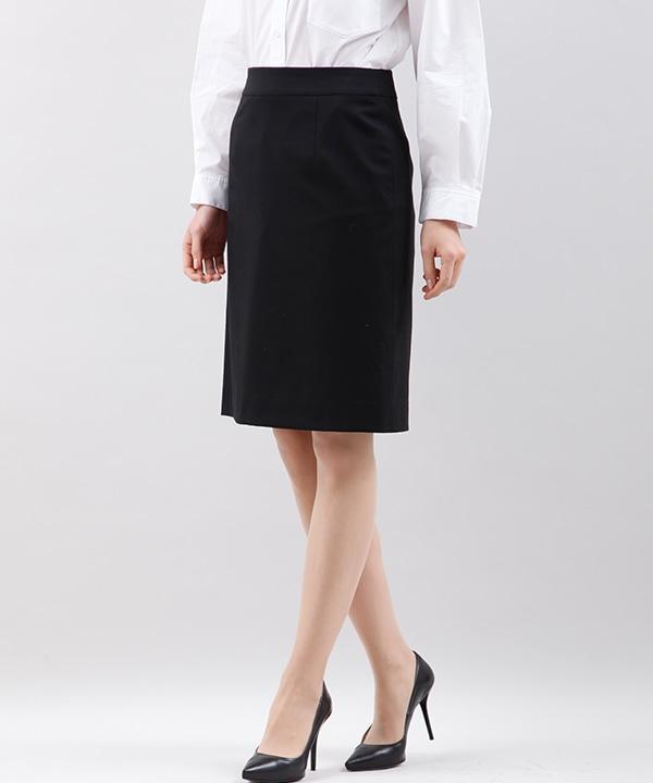 【クリアインプレッション/フランドル】《FLANDRE》SOLOTEX(R) タイトスカート《洗えるスーツ》