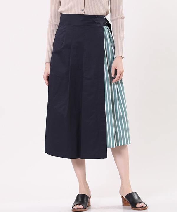 《Maison de Beige》ストライプ柄ラップスカート